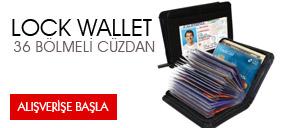Lock Wallet Güvenlikli Kartlık Cüzdan (36 Kart Kapasitesi)