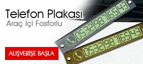 Araç İçi Fosforlu Telefon Plakası: Aracınızda Telefon Numaranız Gözüksün