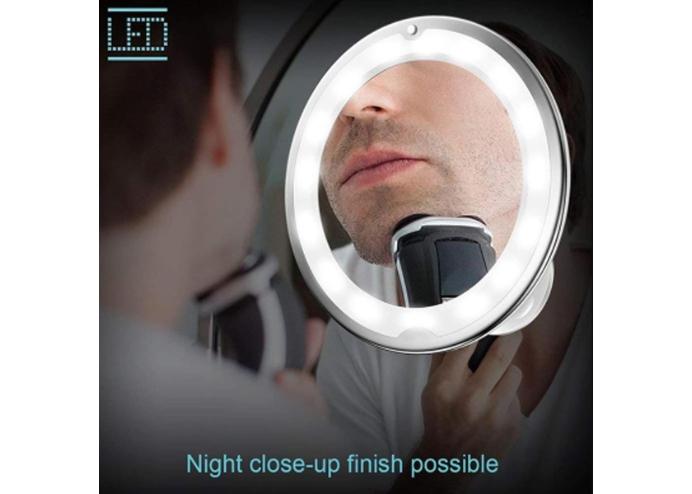 Esnek Işıklı Çerçeveli Flexible 10x Zoomlu Makyaj Aynası