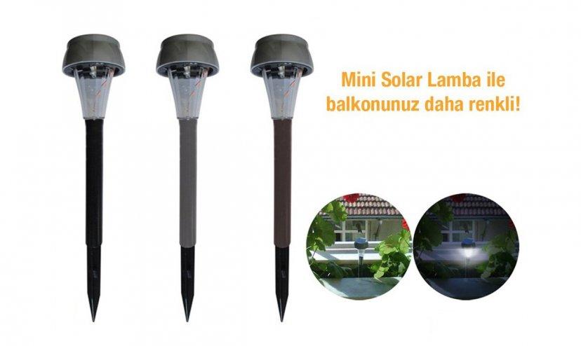 Güneş Enerjili Solar Bahçe Aydınlatma Lambası