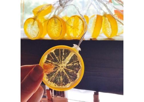 10lu Limon Dilimi Şeklinde Dekoratif Dolama Led 1,5 Metre