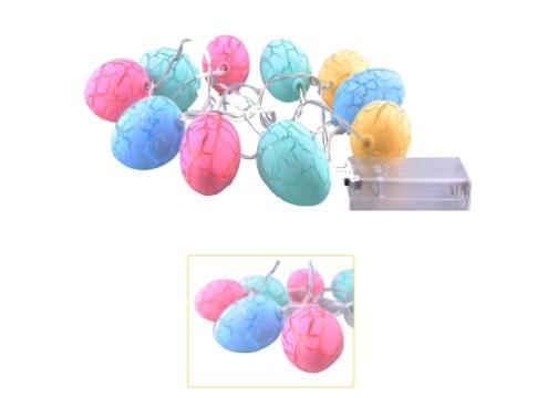 10lu Renkli Yumurta Şeklinde Dolama Led 1,5 Metre