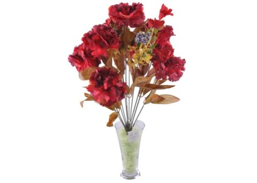 11 Dallı 50 cm Karanfil Yapay Çiçek-CK002KZ