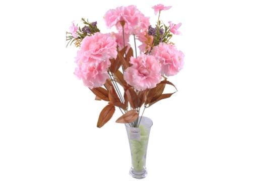 11 Dallı 50 cm Karanfil Yapay Çiçek Pembe-CK002PE