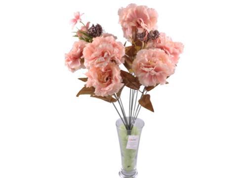 11 Dallı 50 cm Karanfil Yapay Çiçek Yavruağzı-CK002YA