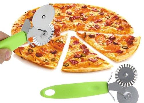 2 Bıçaklı Pratik Pizza Hamur Kesici