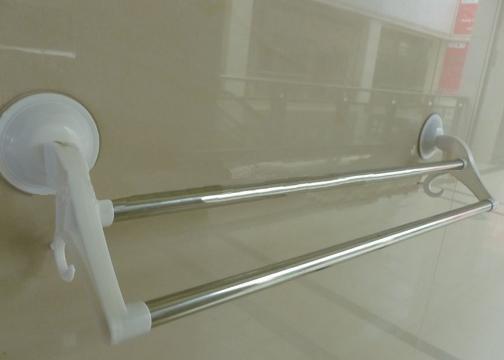 2'li Vantuzlu Metal Banyo Havlu Askısı