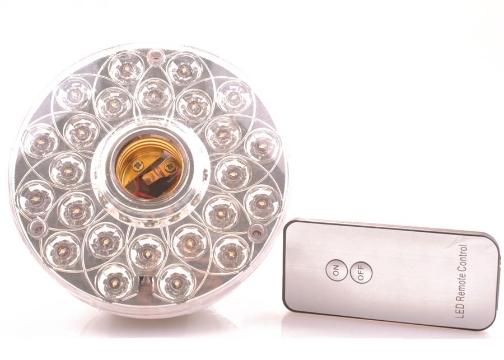 Uzaktan Kumandalı 24 LED Lamba: Şarj Edilebilir Ampul