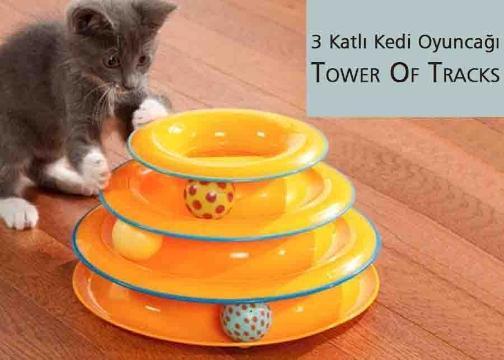 3 Katlı Kedi Oyuncağı Seti: Tower Of Tracks