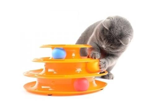 3 Katlı Kedi Oyuncağı Tower of Tracks