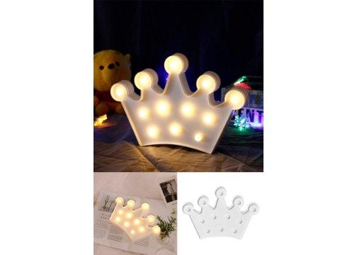 3D Dekoratif Kraliçe Tacı Model Led Masa ve Gece Lambası
