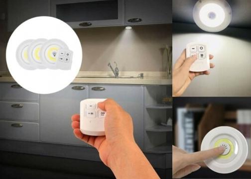 3in1 Uzaktan Kumandalı Spot LED Seti