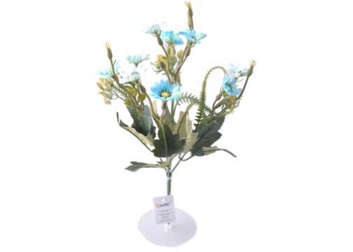 5 Dallı 33 cm Papatya Demeti Mavi-CK013MA