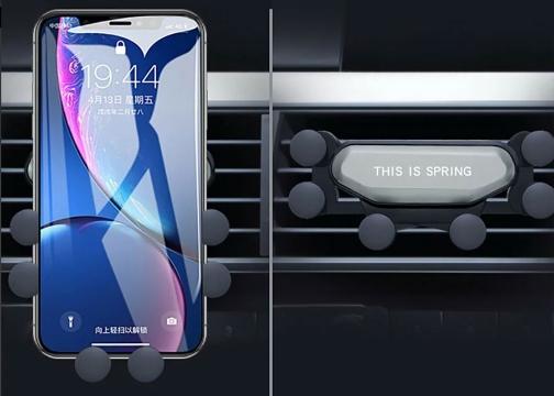 6 Nokta Destekli Tasarımlı Araç İçi Siyah Telefon Tutucu