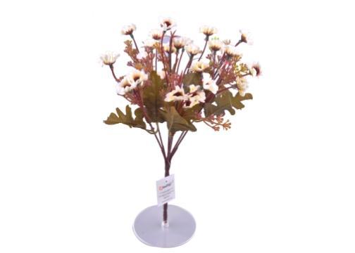 7 Dallı 33 cm Papatya Yapay Çiçek Beyaz-CK009BZ