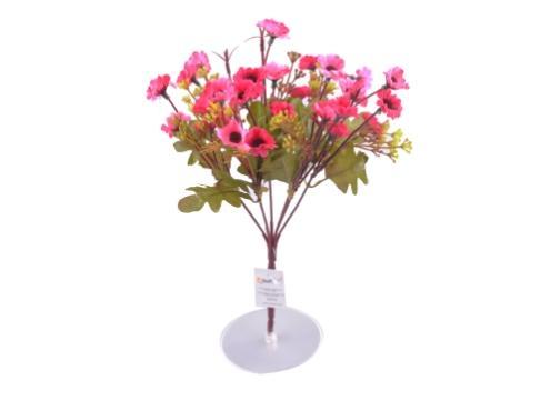 7 Dallı 33 cm Papatya Yapay Çiçek Pembe-CK009PE