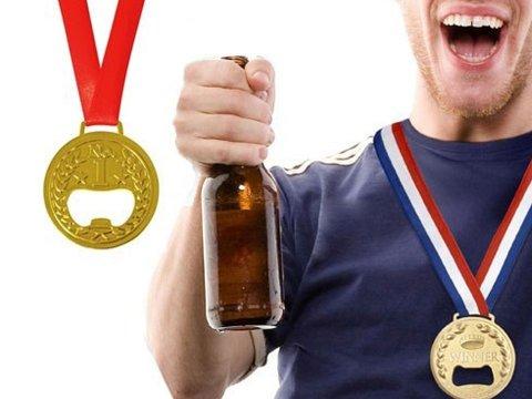 Altın Madalya Tasarımlı Şişe Açacağı