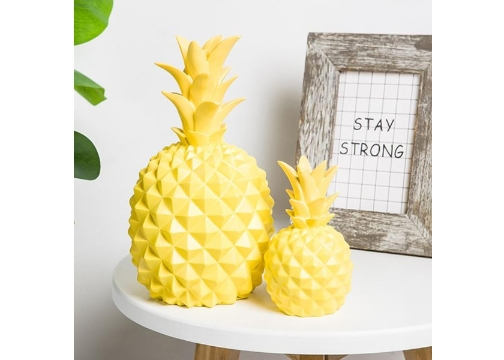 Ananas Desenli Büyük Boy Masa Lambası