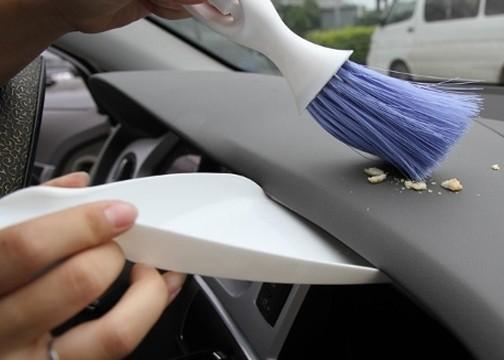 Kürekli Araç İçi Temizleme Fırçası