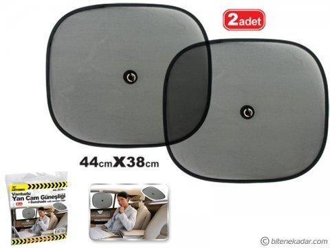 Araç İçi Yan Cam Güneşlik Perde (2 Adet - 44 cm x 38 cm)