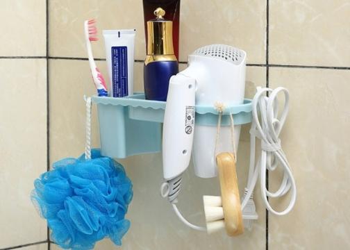 Banyo Organizer Raf ve Fön Makinası Askısı