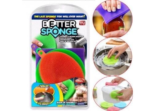 Better Sponge Silikon Bulaşık Süngeri (3lü Paket)
