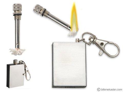 Bitmeyen Metal Kibrit: Zippo Benziniyle Çalışan Kibrit Anahtarlık