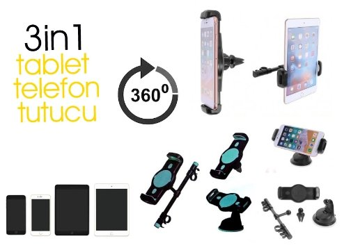 3 in 1 Telefon ve Tablet Tutucu