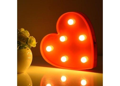 Dekoratif Kalp Şeklinde Gece Lambası