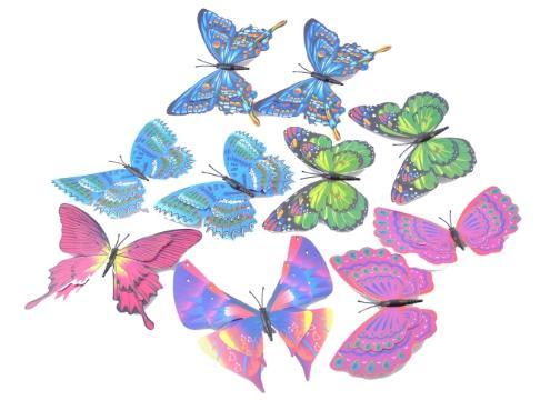 Dekoratif Saksı Kelebekleri (10 Adet)
