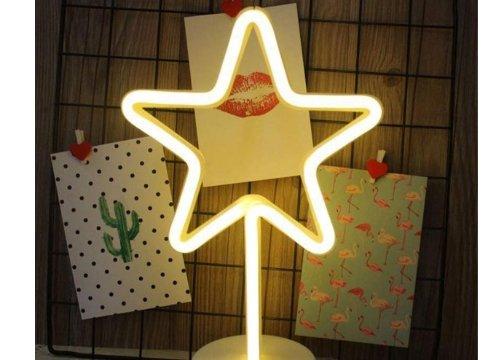 Yıldız Neon Led Masa ve Gece Lambası