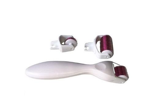Derma Roller Titanyum İğneli 4 Başlıklı Set