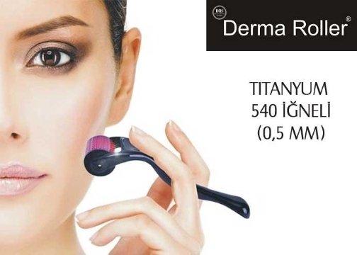 Dermaroller Titanyum 540 İğneli 0.5mm