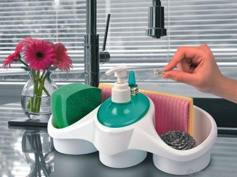 Sünger Hazneli Sıvı Sabunluk (Mutfak Banyo Organizer)