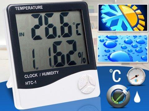 Masaüstü Dijital Termometre + Nem Ölçer Higrometre