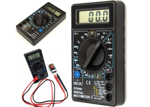 Dijital Avometre Multimetre Ölçü Aleti Akım Voltaj Direnç Ölçer
