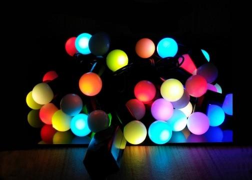 Dolama Dekor Işıkları: 40 LED Işıklı (Minik Top Desenli)