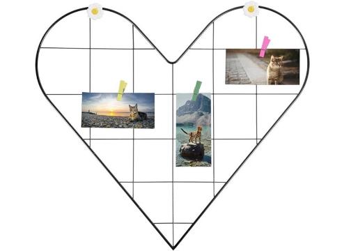 Fotoğraf ve Notlar İçin Metal Kalpli Işıklı Ferforje