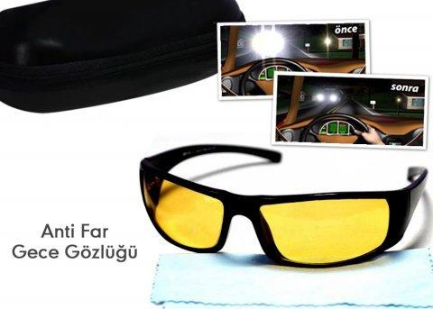 Anti Far Gece Sürücü Gözlüğü - Gece Sürüş Gözlüğü