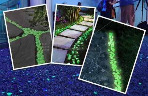 GlowStone: Yeni Renkler: Fosforlu Çakıl Taşları (Saksı-Dekor)