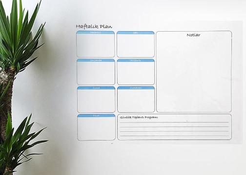 Haftalık Planlayıcı Manyetik Duvar Sticker Takvim