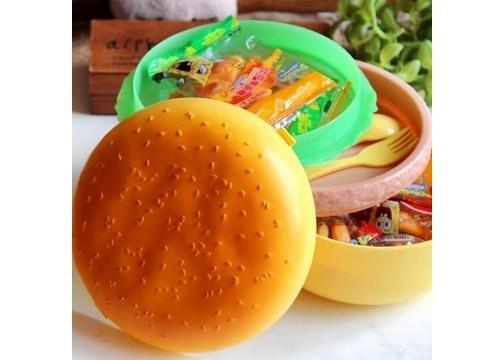 Hamburger Tasarımlı Saklama ve Beslenme Kabı