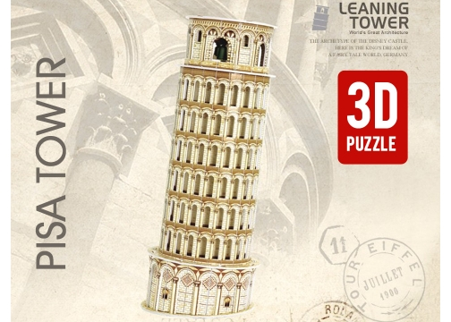 İnanılmaz 3D Puzzle : Pisa Tower