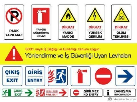 Yönlendirme ve İş Güvenliği Uyarı Levhaları: Uyarı İkaz ve Bilgilendirme İşaretleri