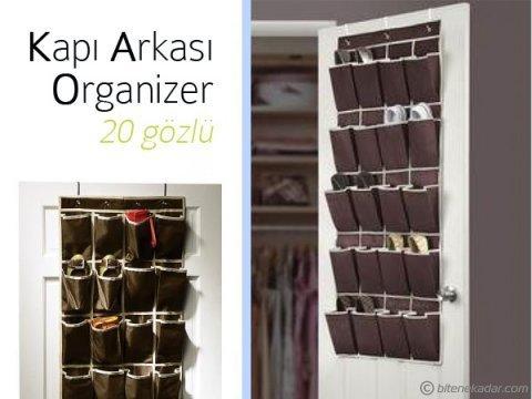 Kapı Arkası Çok Amaçlı Organizer: Ayakkabı ve Terlik (20 Göz)