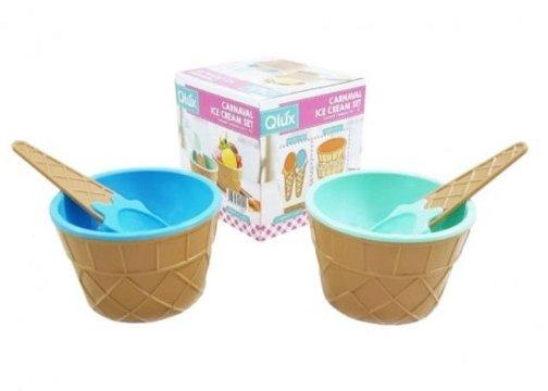 Karnaval Eğlenceli Dondurma Servis Seti (2 Kişilik)