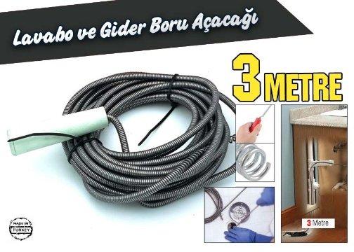 Lavabo ve Gider Boru Açacağı (3 Metre)