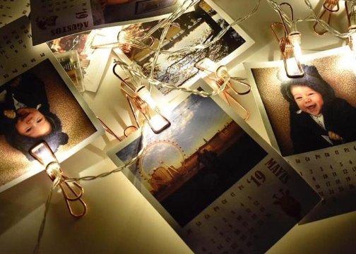 Led Işıklı Bakır Renkli Fotoğraf Mandalları