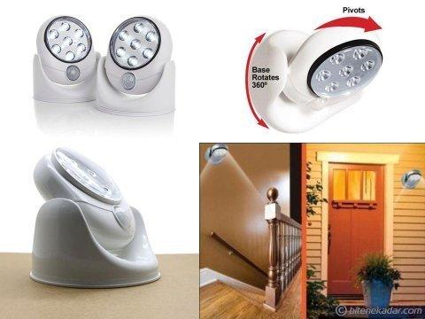 Hareket Sensörlü 360 Derece 7 LED Lamba: Light Angel