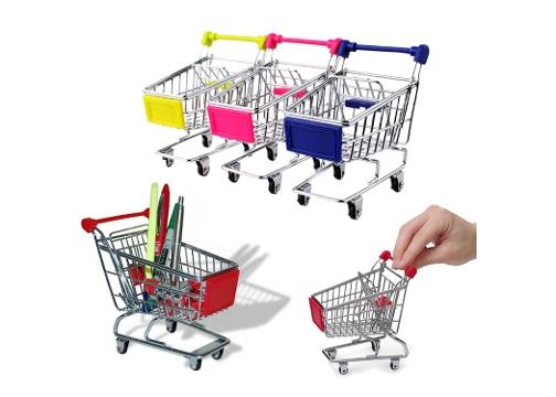 Market Arabası Kalemlik: Masaüstü Alışveriş Arabası
